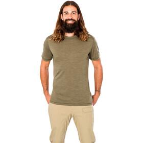 super.natural Essential SS Shirt Men olive night melange